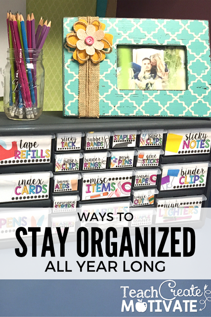 These bright teacher toolbox labels will help your classroom stay organized all year long!