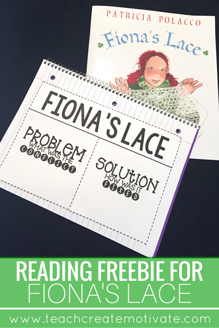 Free reading flapbook to accompany Fiona's Lace!