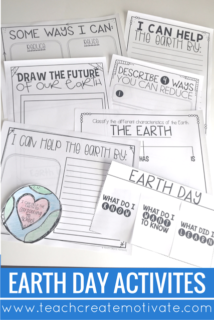 Easy, low prep, print and go activities all about Earth Day!