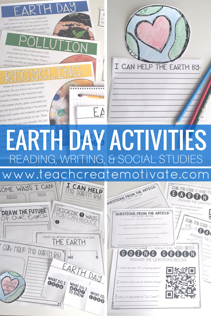 Engaging Earth Day activities including non fiction passages, web quests, and writing!