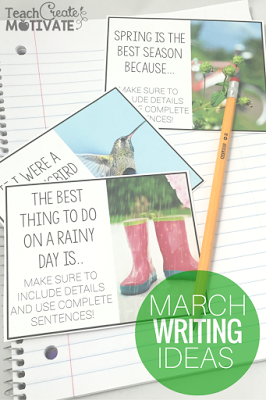 No prep engaging writing prompt cards for Spring!