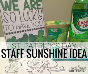 I'm Lucky to Work With You: Spread Staff Sunshine!