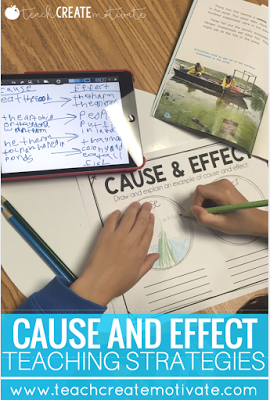 Tips and Tricks for teaching cause and effect during guided reading!