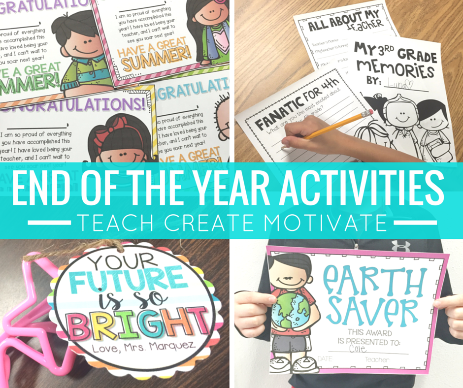 End of the Year activities and freebies for your students!
