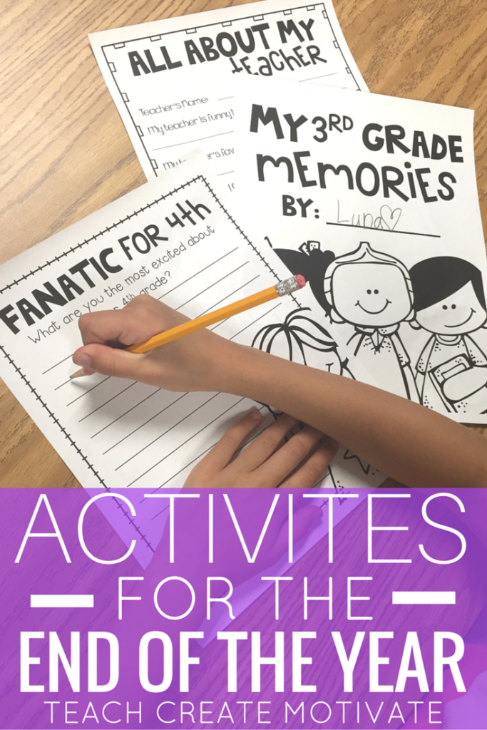 How do you celebrate the end of the year? Check out these fun and engaging activities for students at the end of the year!