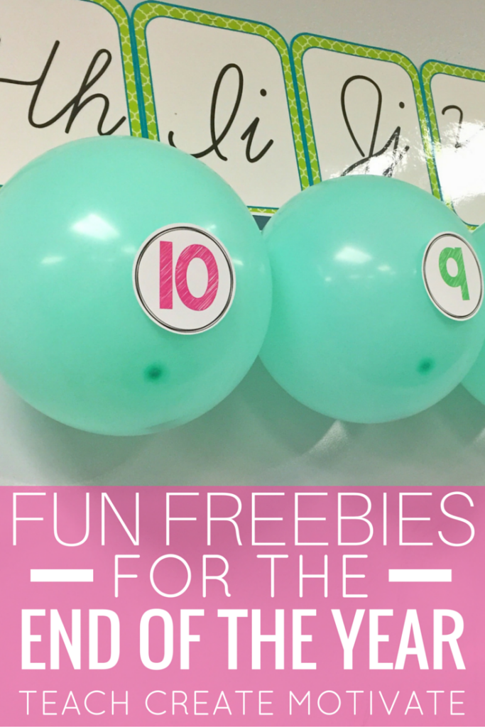 Make the end of the year fun with these balloon countdown activities for free!