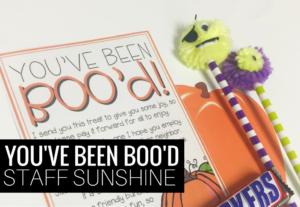 You've Been BOOd! {Staff Sunshine!}