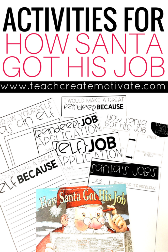 Quick and easy activities for your students to go with the story, How Santa Got His Job. These cute activities will keep your class engaged before the winter break!