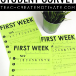 First Week Student Survey