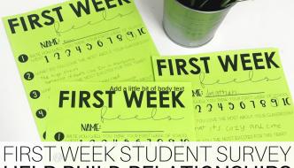 First Week Student Survey