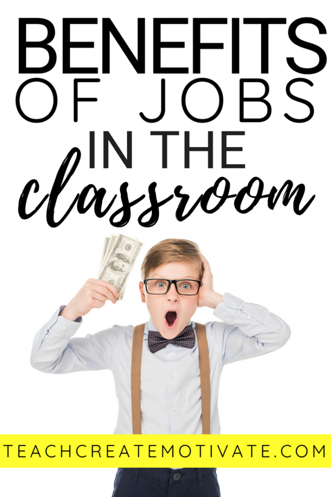 The benefits of class jobs with your students are endless! Create independence, manage class organization, and save your teacher sanity!