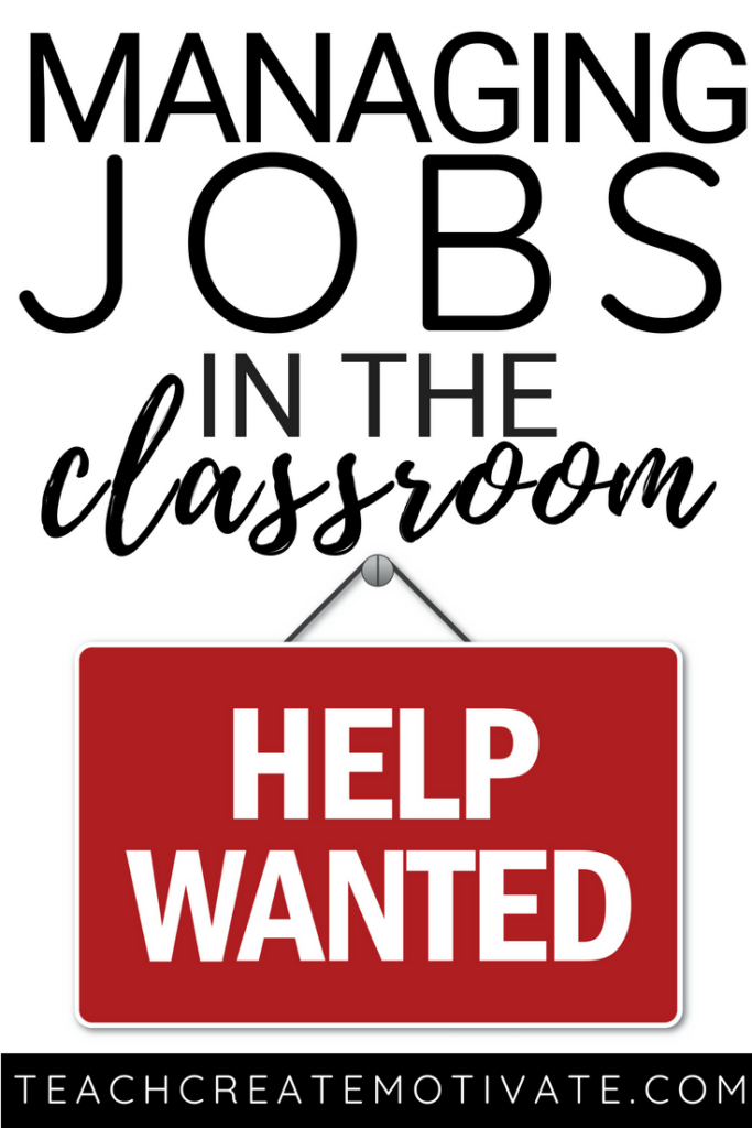 Everything you need to get started with class jobs to help manage your classroom and student independence!