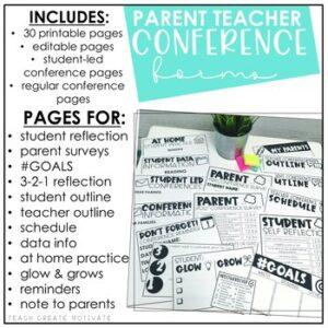 Parent Teacher Conference Forms Editable1