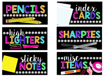 How Teachers Can Create Growth Mindset >> Teacher Toolbox Labels {Bright, Black, & Editable} - Teach Create Motivate