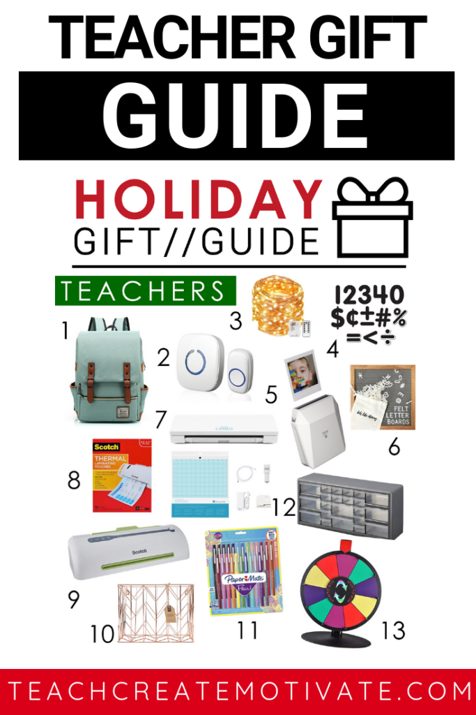 Holiday gift guide for teachers!