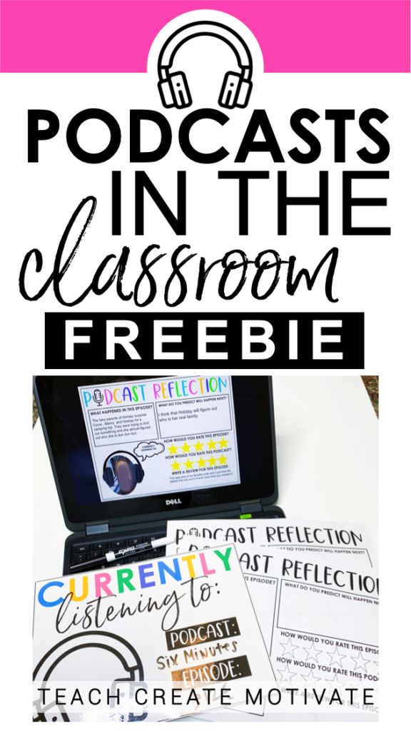 Are you using podcasts in your classroom yet? There are LOTS of benefits of using podcasts in your classroom with your students! Foster reflective thinking with this FREEBIE and start using podcasts with your students today!