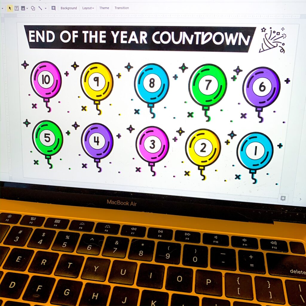 digital countdown for end of the year