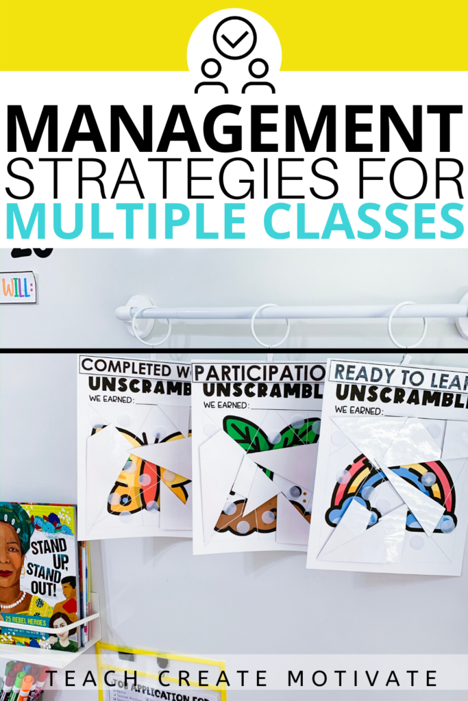 Classroom management with multiple classes can feel overwhelming! Here are some strategies you can implement today if you teach more than one class!