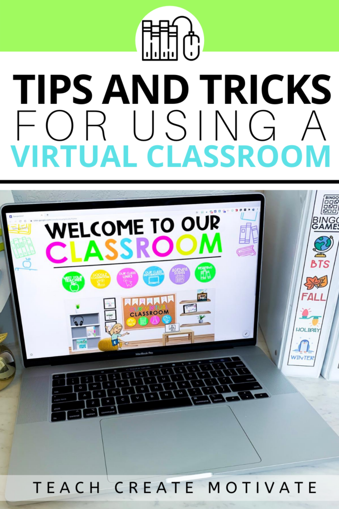 My favorite thing about virtual classrooms is that they are cute AND functional. Here are LOTS of tips and tricks on how to use virtual classrooms and how to make them worthwhile for teachers and their students.