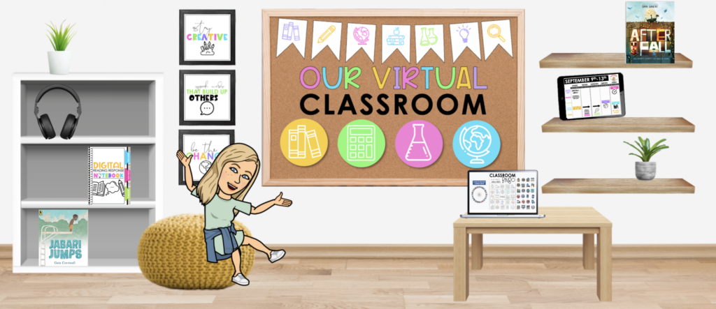 Screenshot of a virtual Google Classroom showing an online teaching space