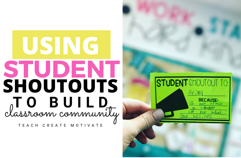 Building classroom community with student shoutouts