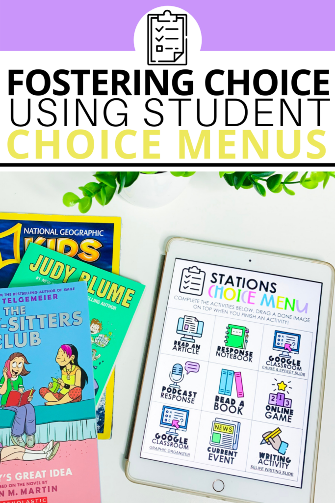 Using choice menus in your elementary classroom is great way to create student by in! It's so important to foster independence and also provide opportunities for your students to take responsibility for their learning. Whether you're in the classroom or teaching virtually, choice boards are a MUST-TRY! Some of my favorite ideas for using them include stations, centers, and more.