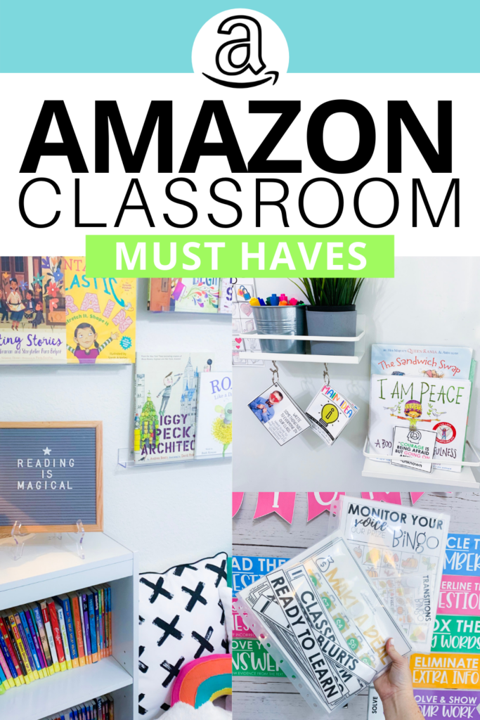 Here's my most recent list of Amazon must-haves for every elementary classroom! This list includes ideas, tips, and hacks for using Amazon products that will help get you organized and save time. Whether you're a kinderga