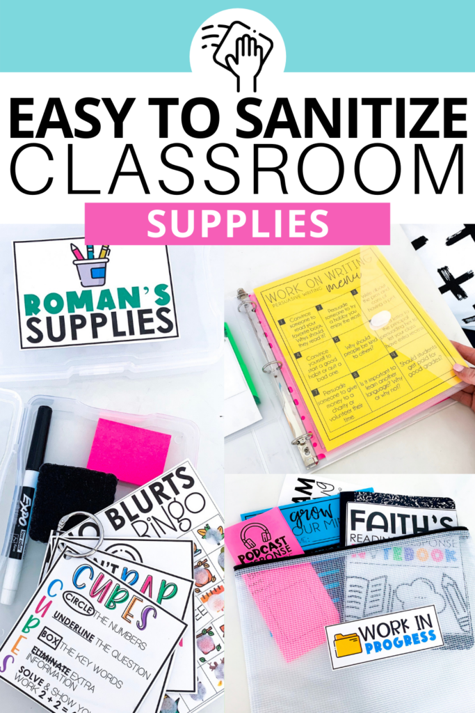 Cleaning classroom supplies and materials can quickly become very overwhelming. These ideas are all easy to clean or provide a way for students to have individual supply hubs when before they may have been shared.