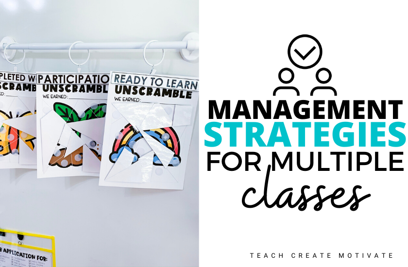 Classroom management strategies for multiple classes