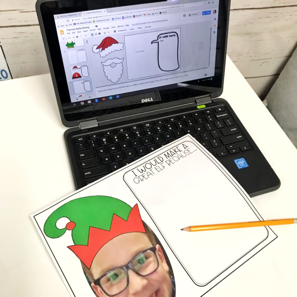 Writing is so important to teach to our students that sometimes we forget the fun in it. Holiday selfie writing activities are perfect!
