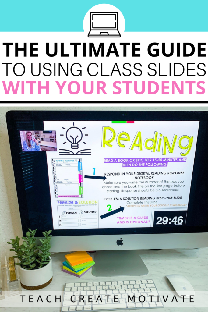 Using class slides with timers with students is one of my favorite ways to manage classroom time and student engagement. Here are three ways to use slides to have a student-led environment!