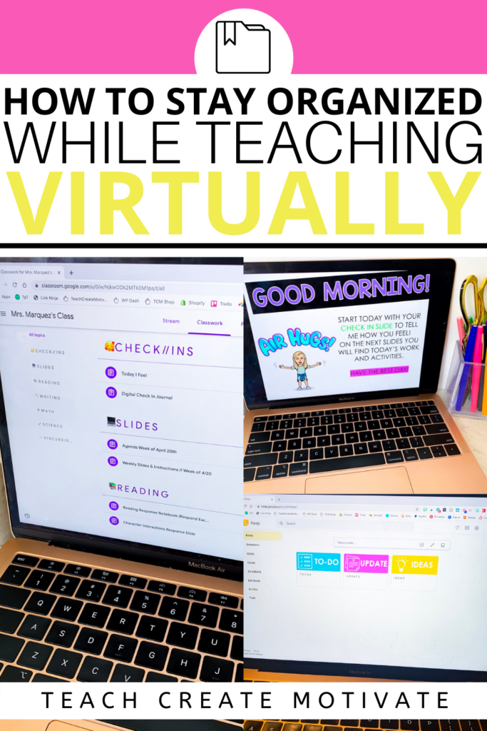 Do you feel like you can never find something in your Google Classroom when you need it? Is your Google Drive overwhelming you? Learning how to stay organized when teaching virtually is key!