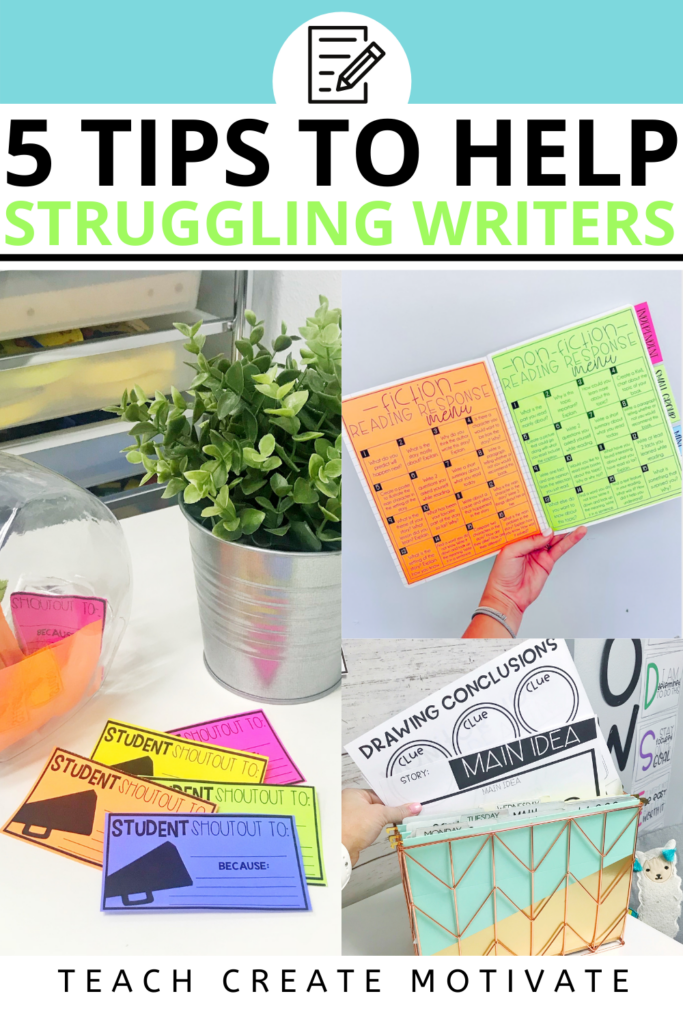 Teaching writing is something that comes easily to some and can be difficult for others. Read to find ways to help your struggling writers!
