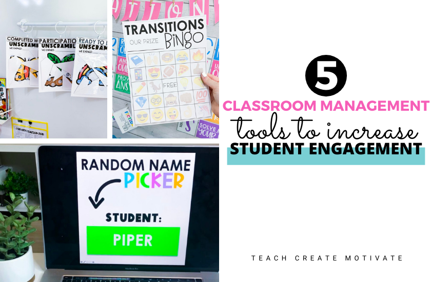 You need to know about these 5 great classroom management tools to help you break out of the daily routine to increase student engagement!