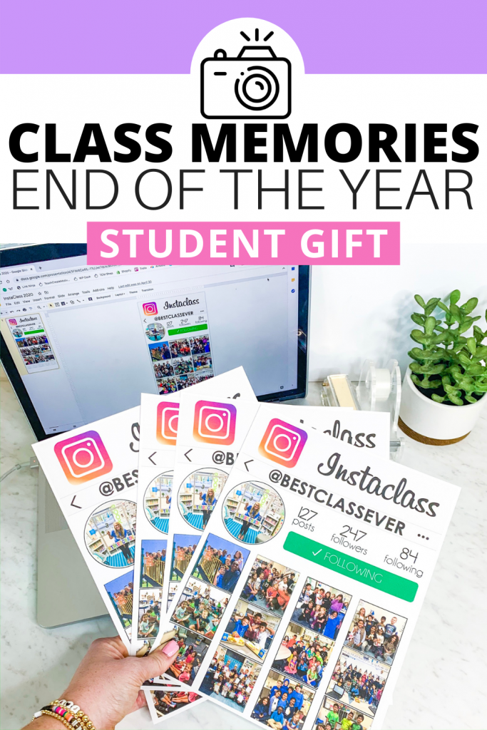 Use this memorable and easy student gift for the end of the year! Simply add your classroom photos and send home withs students.