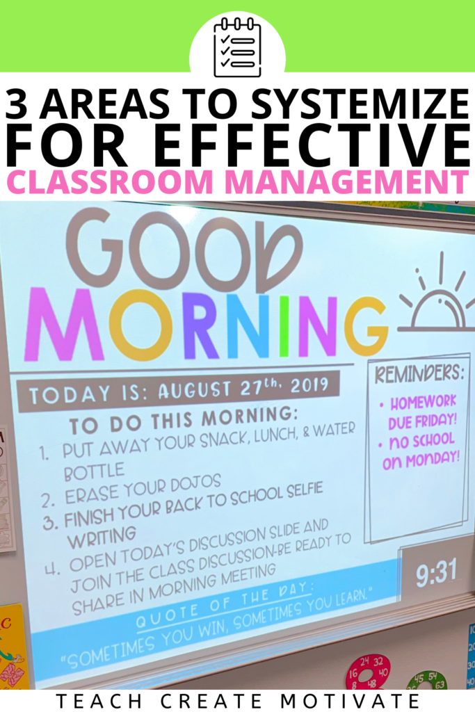 Systemize three areas in order to establish a more effective classroom environment. Read to discover ideas you can implement that will make a huge impact on your morning routine, transitions, and expectations.