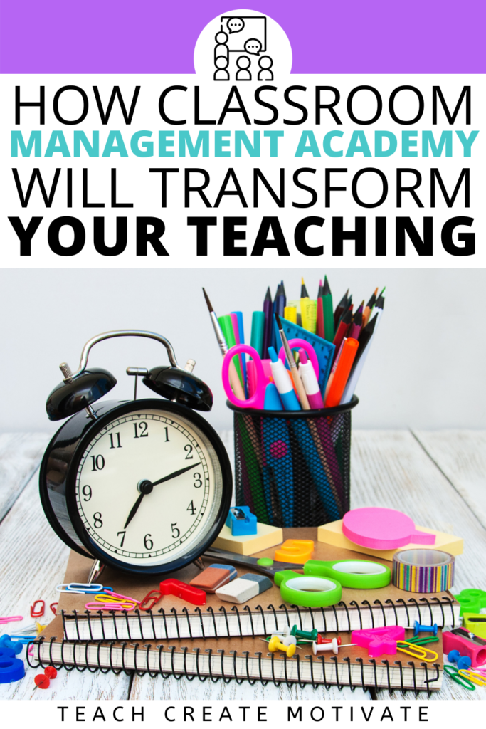 Classroom Management Academy enrollment is open from July 5th-14th! This self-paced course will give you the tools to develop a classroom that is student-led and will change the way you think about classroom management. Enroll today for student engagement tips, classroom management strategies, and exclusive bonuses!