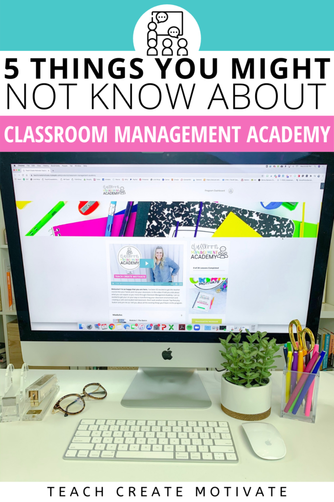 Classroom Management Academy only comes around once a year! If you are looking to revamp your classroom management, increase student engagement and work on your time management, CMA is for you! Classroom Management Academy is great for 1st, 2nd, 3rd, 4th, and 5th. It can definitely be applied to 6th-8th grade too! Doors close on July 14, 2021, until next year! Exclusive bonuses and a 10-hour professional development (PD) certificate that you can give your admin for continuing education hours!