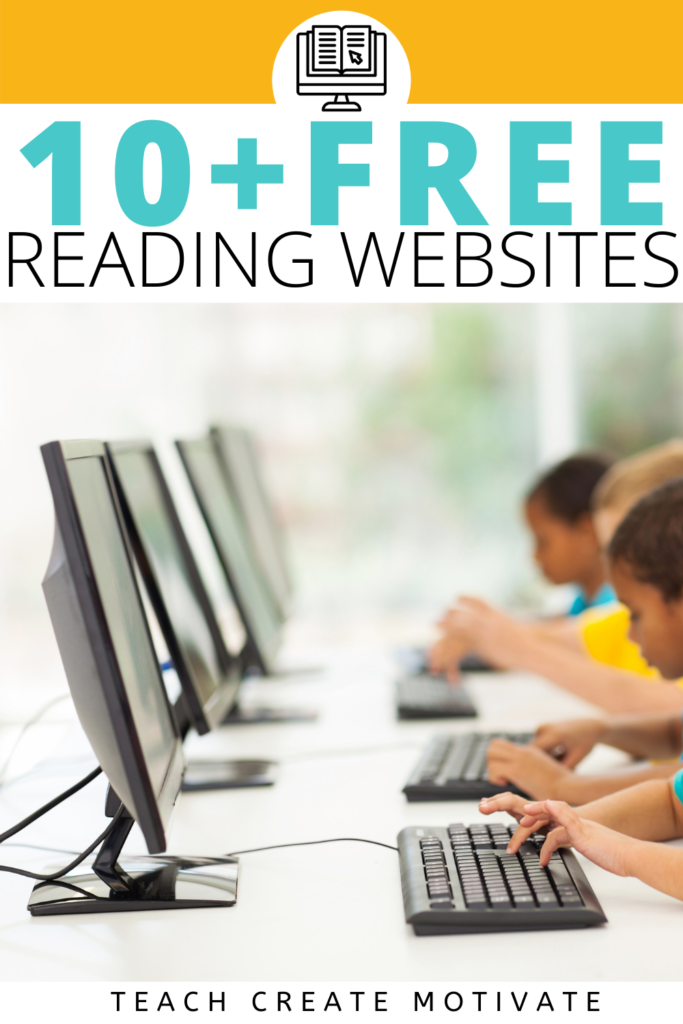 FREE reading websites to use in your elementary classroom! These reading websites are perfect for small groups, centers, stations, or independent reading. Educators can create a free account and assign books and articles to students. Some of these sites are great for analyzing text, vocabulary exposure, and comprehension skills. Great for nonfiction, fiction, reading level, main idea, inferencing, context clues, vocabulary, analyzing text, test prep..(Kindergarten, 1st, 2nd, 3rd, 4th, 5th grade)