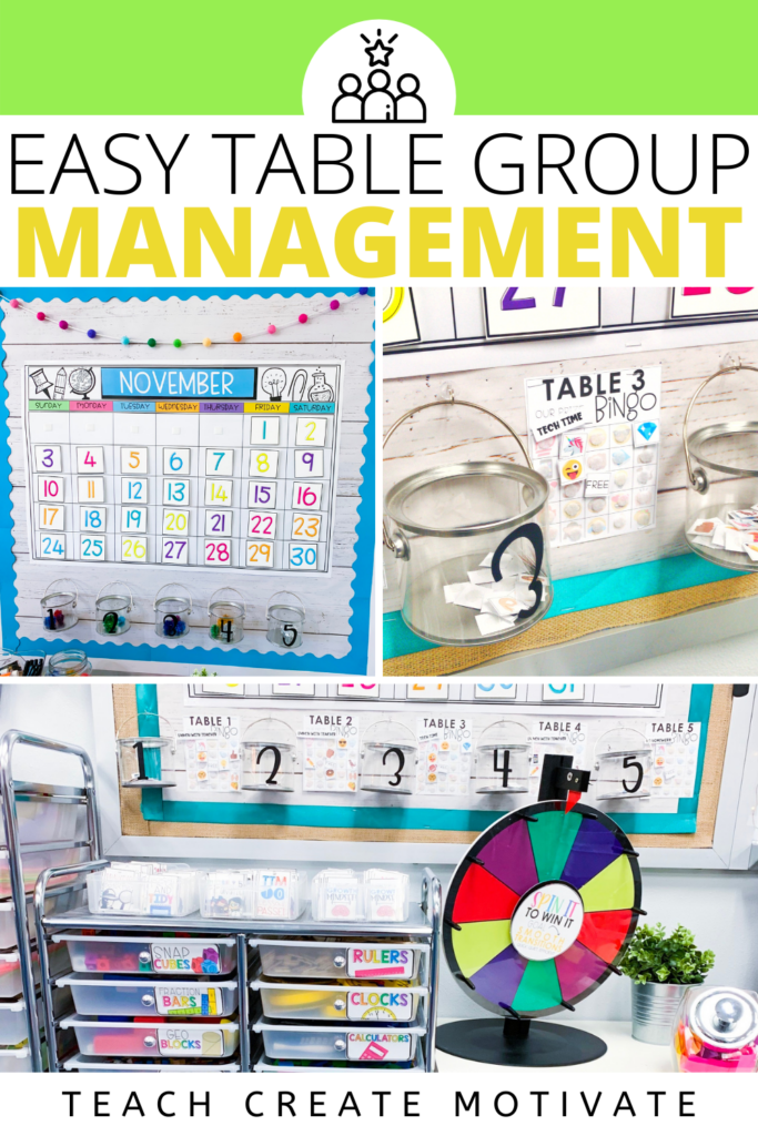 Easy Table Group Management-A classroom management strategy for table groups. Table points or table sparklers promote student collaboration and build classroom community. Use when groups are on task, maintaining appropriate voice level, have eyes on the speaker, or other positive behavior in the classroom! Table Bingo is also an option with the same expectations. (First grade, second grade, third grade, fourth grade, fifth grade, or middle school! (Kindergarten, 1st, 2nd, 3rd, 4th, 5th grade)
