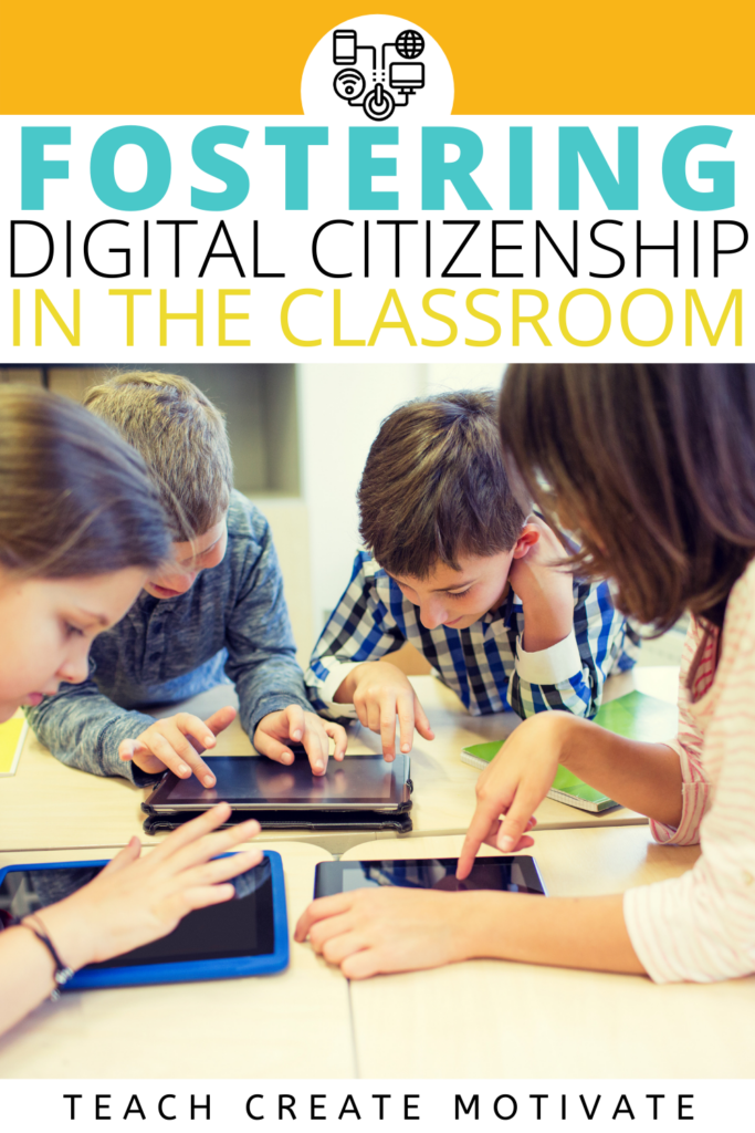 Digital citizenship is the responsible use of technology. Teaching students how to be responsible online is important for their privacy, safety, and mental health. Bringing awareness to cyberbullying and online relationships should start early. Use this resource to talk about digital footprint, media balance, media literacy, privacy, passwords, photos, & more with students. Digital citizenship resources are included! ( Kinder, 1st grade, 2nd grade, 3rd grade, 4th grade, 5th grade, middle school)