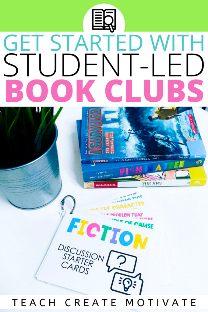 Book clubs are a great way to foster student-led learning, build classroom community, and create excitement around reading. Read this post to get started with book clubs in your classroom. It covers grouping students by reading level or book choice, book club schedules, and book club activities. Foster reading discussion using sentence stems. Use graphic organizers to aid comprehension of independent reading texts.  (Kinder, 1st grade, 2nd grade, 3rd grade, 4th grade, 5th grade, middle school)
